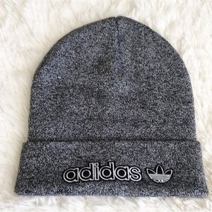 ADIDAS BEANIE HEATHER GREY BLACK ONE SIZE